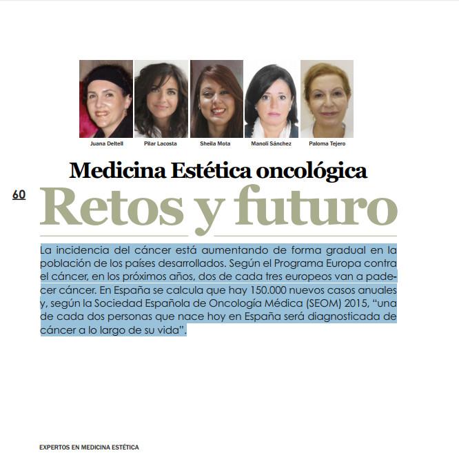 Medicina Estética Oncológica. Retos y Futuro